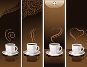 banners with coffee cups