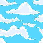 clouds in sky seamless