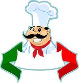 italian chef cook label