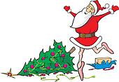 lost in dancing santa claus