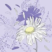 abstract background with chamomile