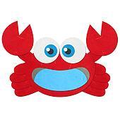 Rice paper cut cute red crab
