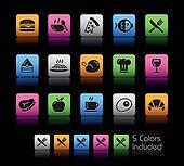 Food Icons - Set 1 // Color Box