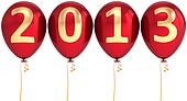 New 2013 Year helium balloons