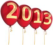 2013 New Year party balloons