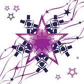 decorative abstraction star, vector background