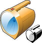 flashlight vector illustration
