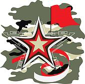 star abstract art vector military