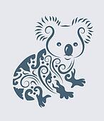 Koala tribal vector