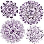 Set christmas filigree snowflakes