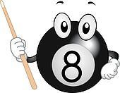 Billiard Ball Mascot