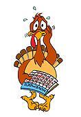 Nervous Thanksgiving Turkey
