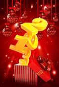 Happy new year 2013 3d background