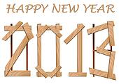 Happy new year 2013 wood sign