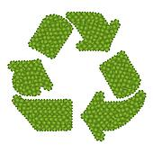 The Recycle Icon Made of Four Leaf Clove