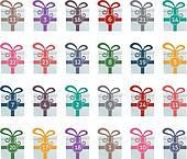 colorful gift boxes advent calendar