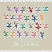 gift boxes hang advent calendar