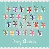 gifts hang on twine advent calendar