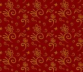 Christmas red paper wrapping background. Abstract seamless patte
