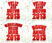 Happy New year 2013 in various lang
