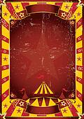 poster yellow dirty circus