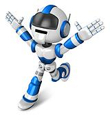 Ten thousand and three and ran a blue Robot. 3D Robot Character