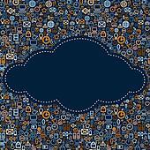 Social Media Cloud Vector