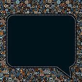 Social Media Seech Bubble Vector