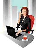 Illustration of business woman