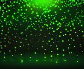 Green Flickering Lights Background