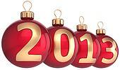 New Year 2013 baubles Xmas balls