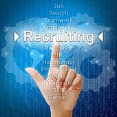 Recruiting,Business concept in word for Human resources