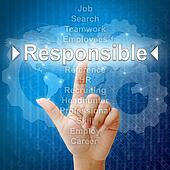 Responsible,Business concept in word for Human resources