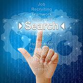 Search,Business concept in word for Human resources