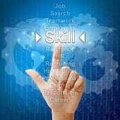 Skill,Business concept in word for Human resources