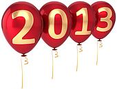 Party balloons New Year 2013