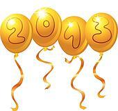 2013 new year balloons