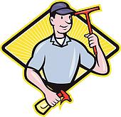 Window Cleaner With Squeegee