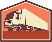 Contrainer Truck and Trailer Retro