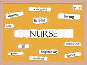 Nurse Corkboard Word Concept