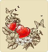 Background; card; Valentine's Day;