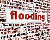 Flooding warning message