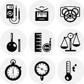 Vector black measurement icons