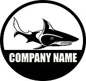 Shark, orca, whale, logo vector