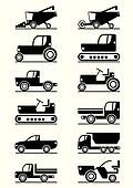Agricultural machinery icons