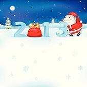 Santa pushing 2013