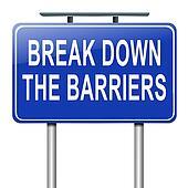 Break down the barriers.