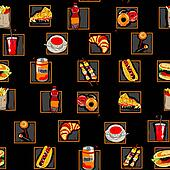 scarry fast food pattern