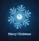 Christmas snowflake out of office s