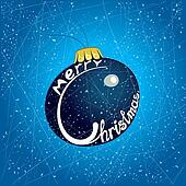 Merry Christmas on the Christmas tr